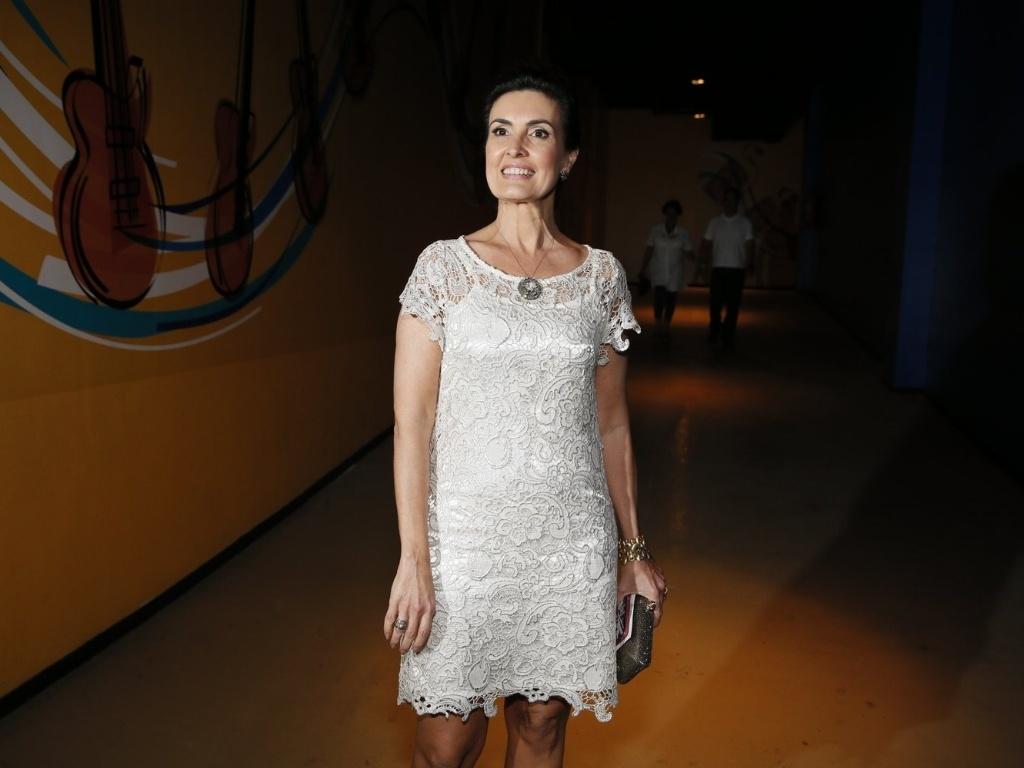 A apresentadora Fátima Bernardes participa de especial da Globo com Roberto Carlos, no Rio de Janeiro (21/11/12)