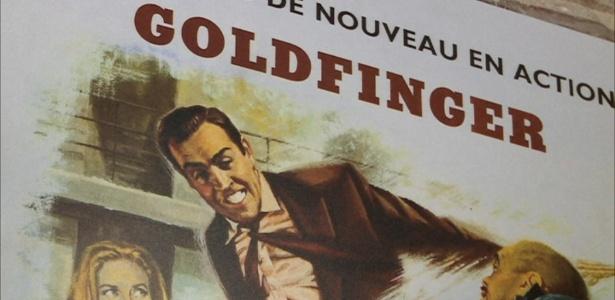 """Imagem do longa """"007 - Goldfinger"""" exposta no Museu Internacional da Espionagem, em Washington - BBC"""
