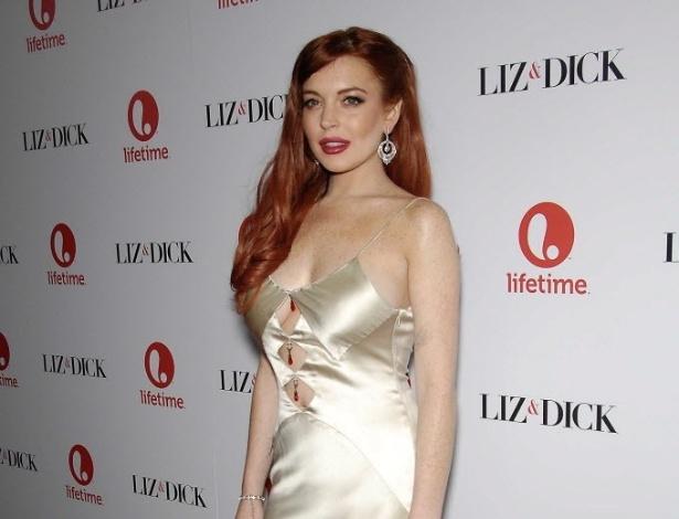 Lindsay Lohan durante o jantar da Premiere de Lifetime's