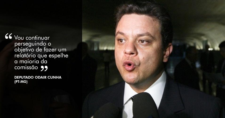 """22.nov.2012 - """"Vou continuar perseguindo o objetivo de fazer um relatório que espelhe a maioria da comissão"""", disse o deputado Odair Cunha (PT-MG), relator da CPI"""