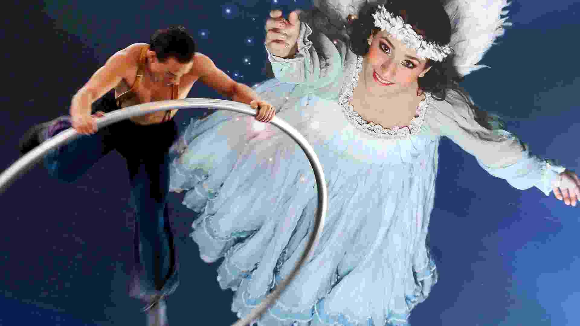 """Cena do espetáculo """"Corteo"""" (palavra que significa 'cortejo' em italiano) exibida para a imprensa na manhã desta quinta (22). Esse é o quinto show itinerante da trupe Cirque du Soleil apresentado em São Paulo - Flávio Florido/UOL"""