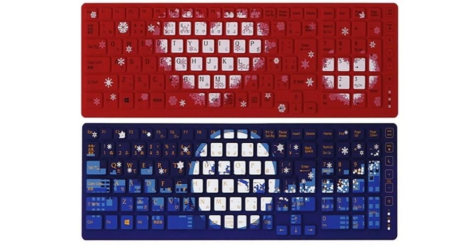 22.nov.2012 - Em clima de natal, a Sony lançou capas personalizadas com a época do ano para o teclado do notebook Vaio. Por enquanto, os produtos só estão disponíveis no Japão, por 2,980 ienes cada (cerca de R$ 75,5)