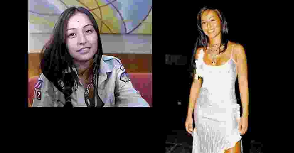 """Sabrina Sato em 2003, aos 22 anos, no """"Big Brother Brasil"""" (à esq.) e recém-saída do reality show, no mesmo ano  - Renato Rocha Miranda/TV Globo/ Divulgação"""