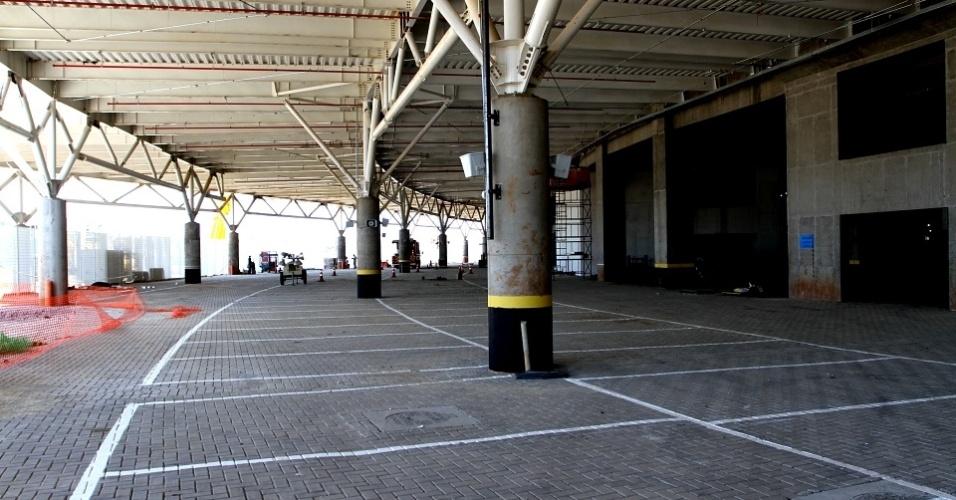 Estacionamentos internos da Arena do Grêmio, que será inaugurada dia 8 de dezembro
