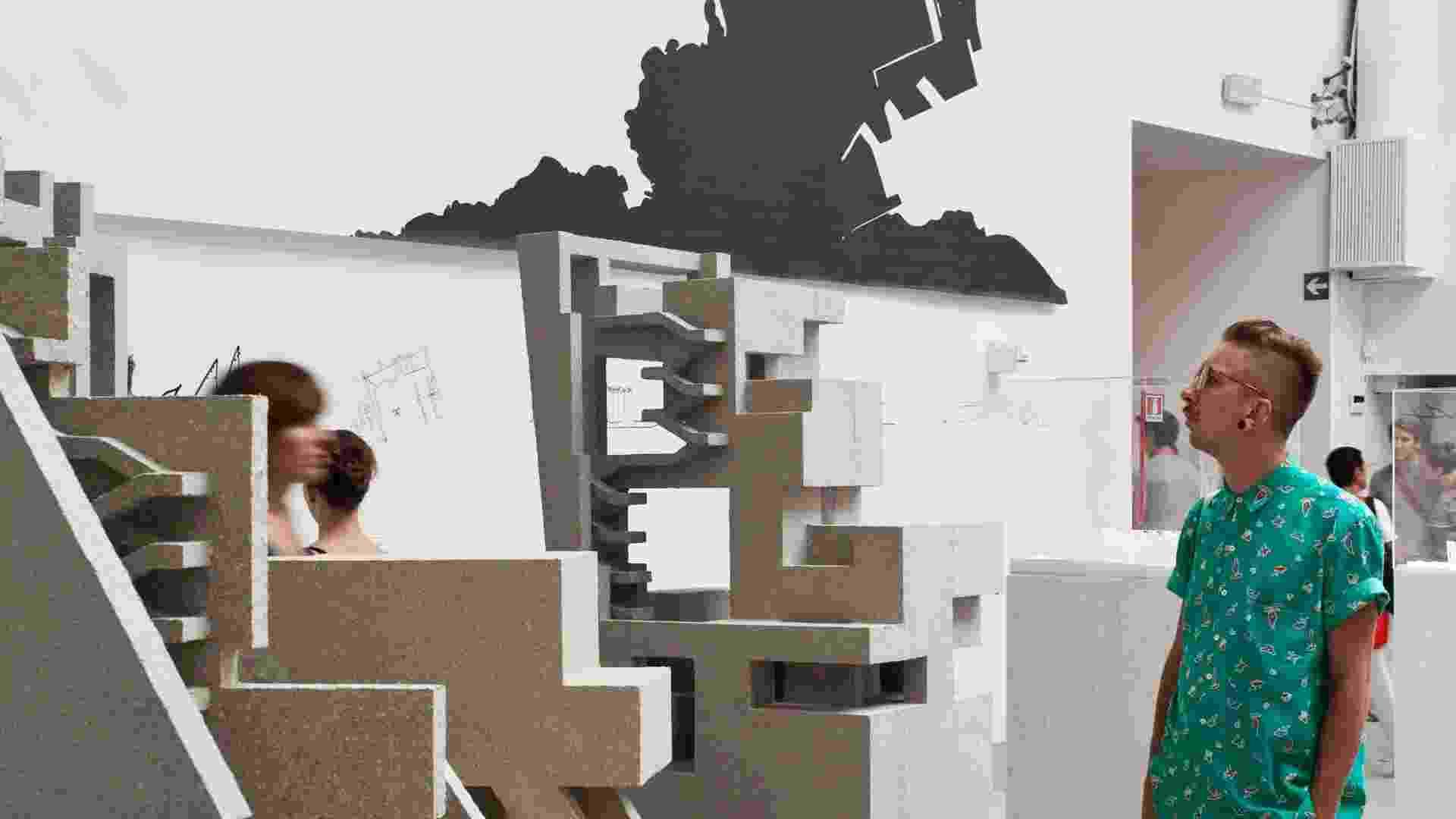 Projeto que revisita a obra de Paulo Mendes da Rocha, do Grafton Architects (Yvonne Farrell e Shelley McNamara) - exibição Common Ground- 13ª Bienal de Arquitetura de Veneza (2012) (Imagem cedida para material específico, usar somente no respectivo conteúdo) - Francesco Galli/ Cortesia la Biennale di Venezia/ Divulgação