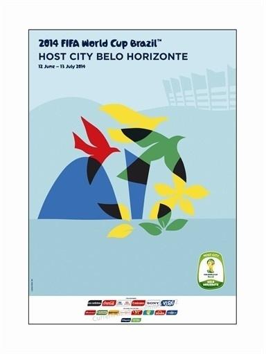 Pôster oficial de Belo Horizonte na Copa de 2014