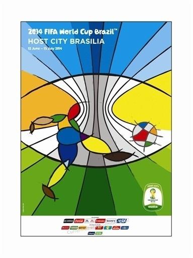 Pôster oficial de Brasília na Copa de 2014