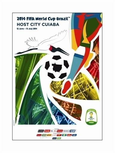 Pôster oficial de Cuiabá na Copa de 2014