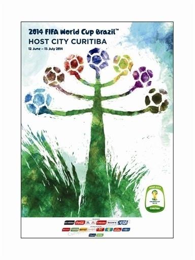 Pôster oficial de Curitiba na Copa de 2014