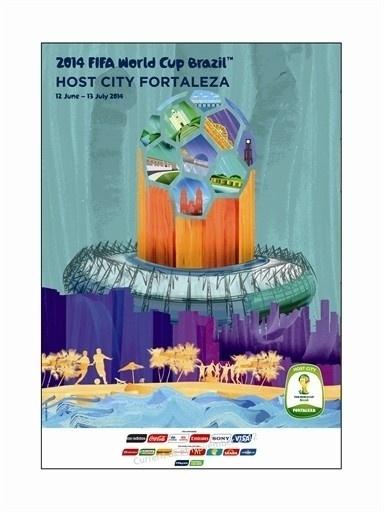 Pôster oficial de Fortaleza na Copa de 2014