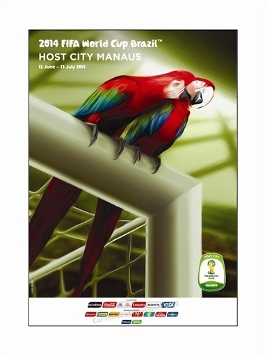 Pôster oficial de Manaus na Copa de 2014