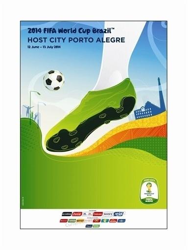Pôster oficial de Porto Alegre na Copa de 2014