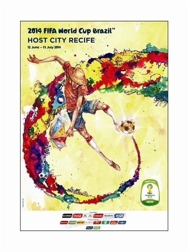 Pôster oficial de Recife na Copa de 2014