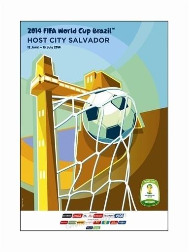 Pôster oficial de Salvador na Copa de 2014