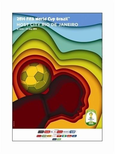 Pôster oficial do Rio de Janeiro na Copa de 2014