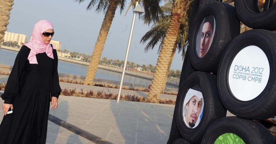26.nov.2012 - A COP 18 é a primeira cúpula sobre mudança climática realizada no Oriente Médio e a maior que acontece na história do Catar