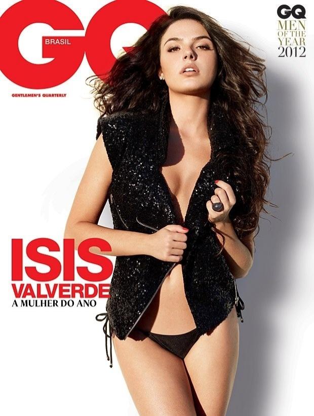 A atriz Isis Valverde foi eleita a mulher do ano pela revista