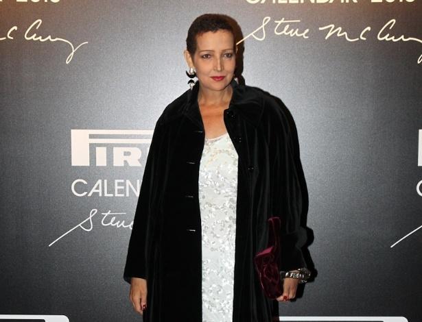 27.nov.2012 - A atriz Betty Lago posa para fotos no lançamento do Calendário Pirelli 2013, no Pier Mauá, no Rio de Janeiro