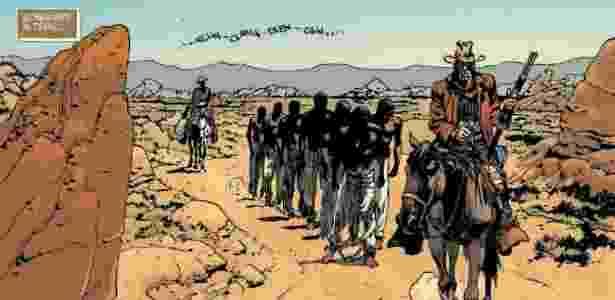 """Capa da HQ de """"Django Unchained"""" - Reprodução/DCComics"""
