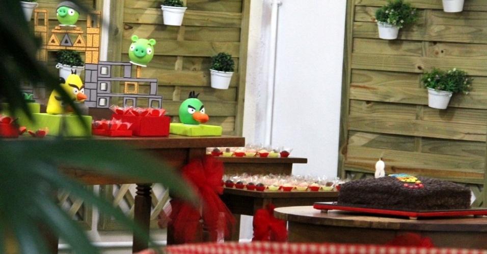 Decoração da festa de Catarina, filha dos atores Marcelo Serrado e Rafaela Mandelli, que comemorou oito anos no Rio de Janeiro (26/11/12)