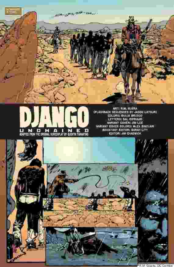 """O roteiro de """"Django Unchained"""", longa que ganha versão cinematográfica de Quentin Tarantino no fim de 2012, virou quadrinho da Vertigo Comics - Reprodução/DC Comics"""