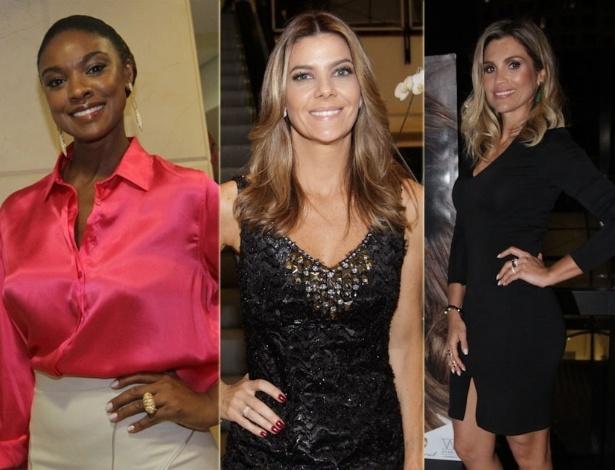 28.Nov.2012 - Cris Vianna, Fabiana Scaranzi e Flávia Alessandra na abertura da exposição e o lançamento oficial do livro