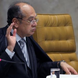 O ministro do STF Gilmar Mendes durante sessão do julgamento do processo do mensalão no ano passado