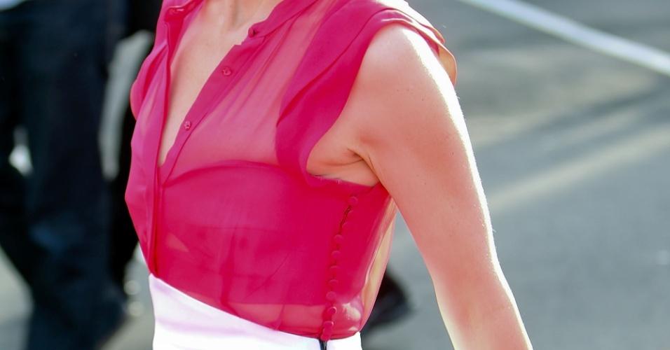 A atriz Cate Blanchett participa da pré-estreia de