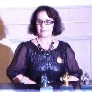 A escritora Stella Maris Rezende em coletiva do Jabuti (28/11/12) - Natália Engler/UOL