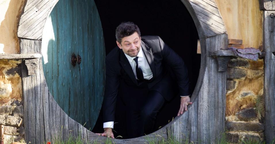 Andy Serkis, que vive o personagem Gollum, na pré-estreia de
