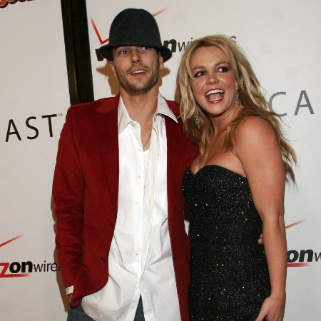 Britney Spears e Kevin Federline durante a cerimônia do Grammy em fevereiro de 2006 - Getty Images