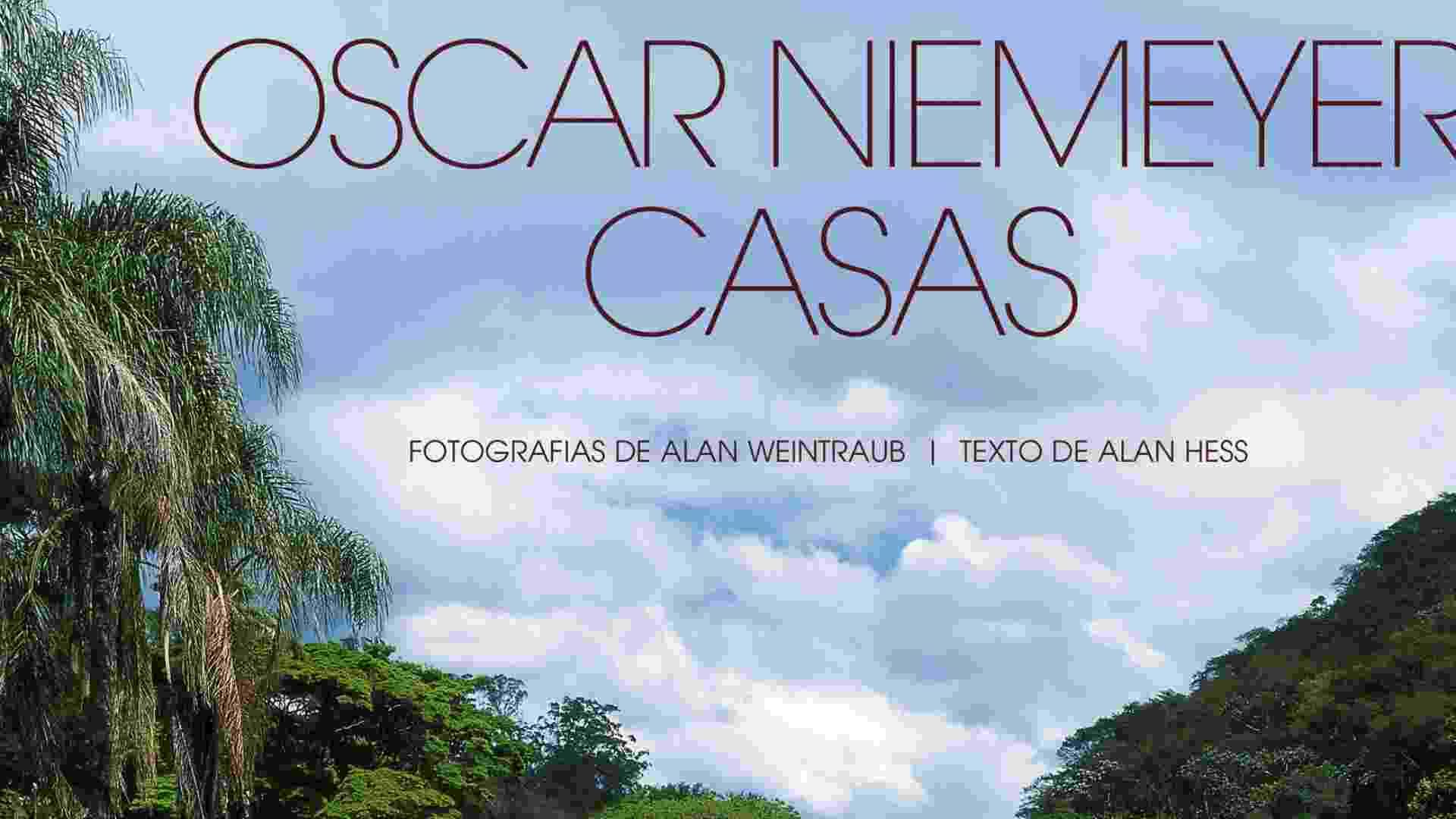 """Capa do livro """"Oscar Niemeyer - Casas"""" traz fotografia da residência Edmundo Cavanelas, em Pedro do Rio (RJ). A obra data de 1954 (Imagens cedidas para conteúdo específico, usar apenas no respectivo material) - Alan Weintraub/ Divulgação"""