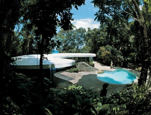 Casa das Canoas, criada em 1953 por Oscar Niemeyer. Os projetos residenciais antecipam as grandes obras - Alan Weintraub/ Divulgação
