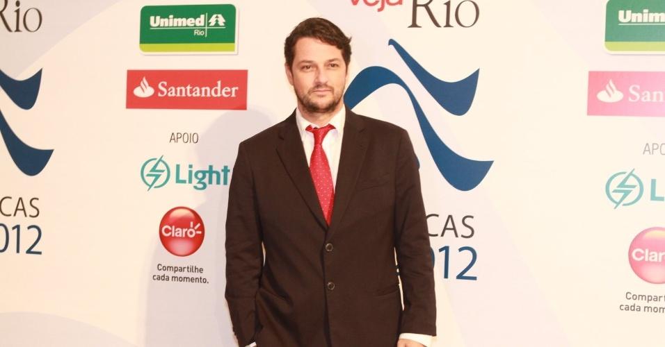 """Marcelo Serrado na premiação """"Os Cariocas do Ano 2012"""" da Revista Veja Rio no Copacabana Palace, no Rio de Janeiro (27/11/12)"""