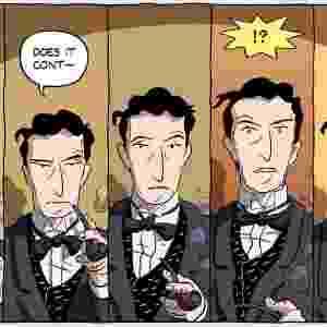 """Retratado aqui numa imagem da história em quadrinhos """"Logicomix"""", sobre sua vida e obra, o filósofo inglês Bertrand Russell trouxe de volta a felicidade ao âmbito da reflexão filosófica. Em """"A Conquista da Felicidade"""", ele põe em ação o método da investigação lógica para descobrir o que pode fazer alguém feliz. Em síntese, ele conclui que é preciso deixar de lado o egocentrismo e abrir-se para o maior número de interesses e de relações, tanto com as coisas quanto com outras pessoas - Reprodução"""