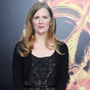 """A autora Suzanne Collins comparece à estreia do filme """"Jogos Vorazes"""" (21/2/12) - Getty Images"""