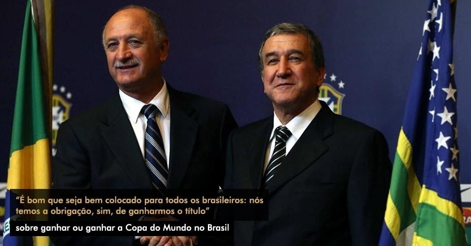 ?É bom que seja bem colocado para todos os brasileiros: nós temos a obrigação, sim, de ganharmos o título?, sobre ganhar ou ganhar a Copa do Mundo no Brasil