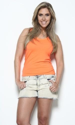 Gabi Pasqualin, apresentadora do Redetv Esporte