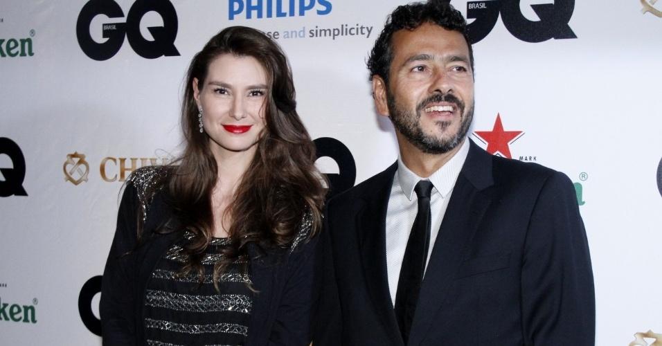 29.nov.2012 - Marcos Palmeira e Lavínia Vlasak no Prêmio Men Of The Year, para os homens mais talentosos de 2012, no Hotel Copacabana Palace, em Copacabana, Rio de Janeiro