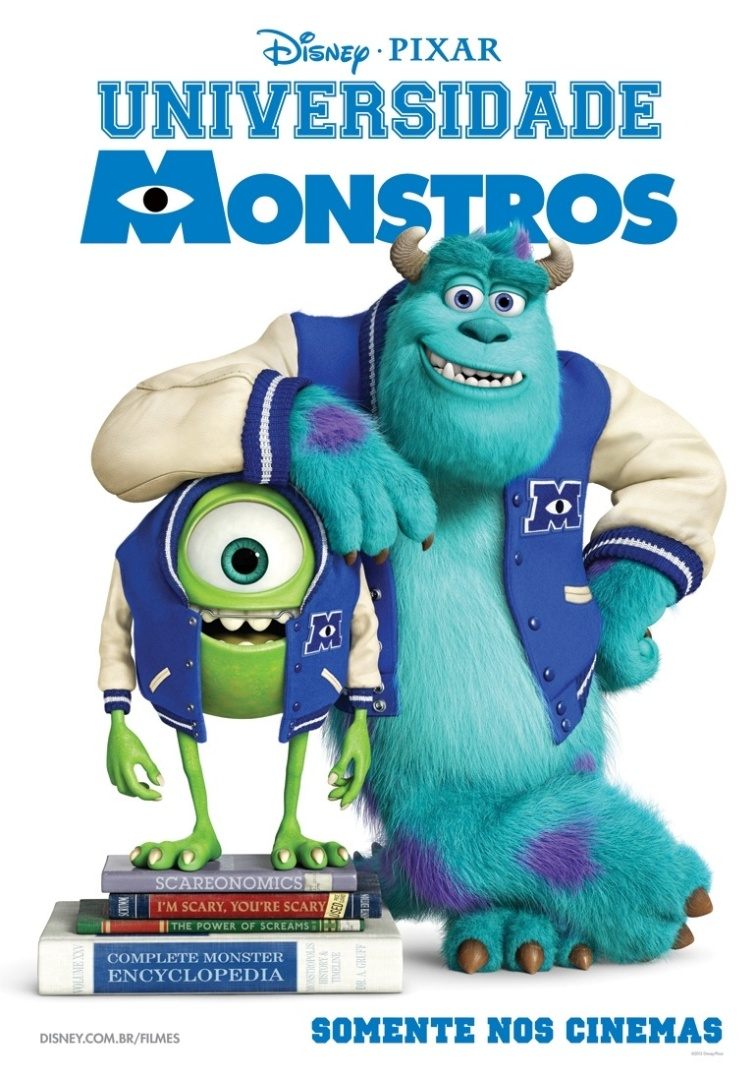 """30.nov.2012 - Pôster brasileiro exclusivo da animação """"Universidade Monstros"""""""