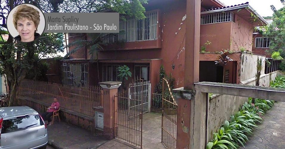 Casa de propriedade da senadora Marta Suplicy (PT-SP) no Jardim Paulistano, bairro nobre de São Paulo. O valor do imóvel declarado à Receita Federal foi de R$ 1,4 milhão (o valor informado à Receita não está corrigido, por isso é inferior ao valor comercial atual)