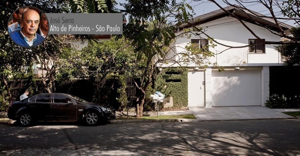 Casa onde mora o ex-governador de São Paulo, José Serra (PSDB), em Alto de Pinheiros, bairro nobre da zona oeste da capital paulista --não há informações sobre o valor do imóvel