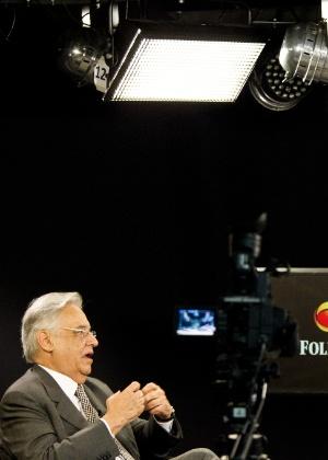 FHC em entrevista para a Folha de São Paulo e para o UOL em 2012 - Eduardo Knapp 30.nov.2012/Folhapress