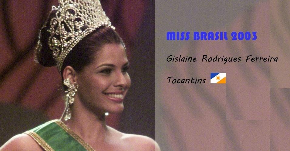 Miss Brasil 2003, Gislaine Rodrigues Ferreira, do Tocantins
