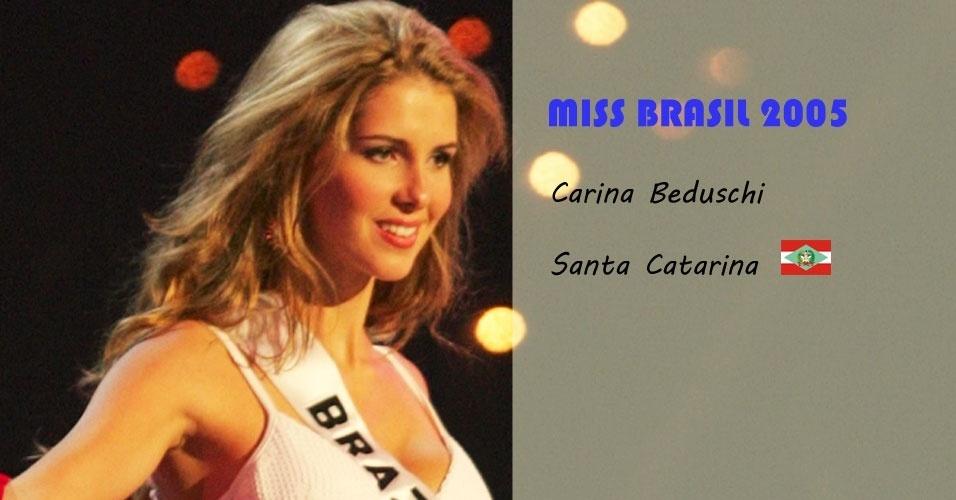 Miss Brasil 2005, Carina Beduschi, de Santa Catarina