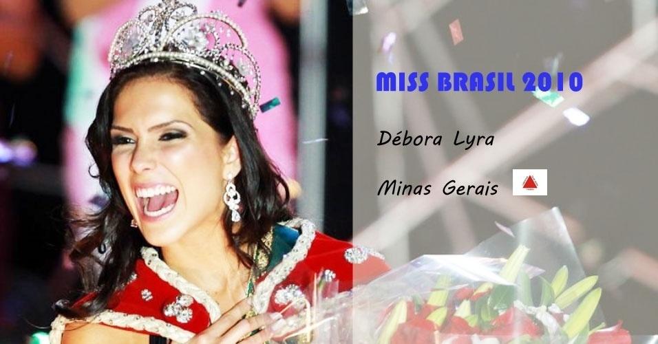 Miss Brasil 2010, Débora Lyra, de Minas Gerais