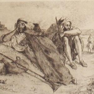 """Obra """"Os Arabes de Oran"""", de Delacroix - Reprodução/PittisburgMuseum"""