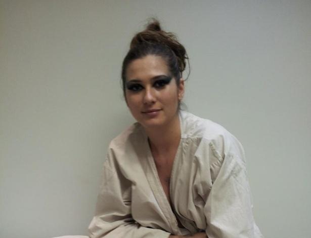 2.dez.2012 - Lívia Andrade publica foto com roupa do Instituto Butantã, em São Paulo