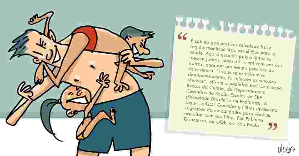 ilustração álbum atividades físicas para pais e filhos - Orlando/UOL