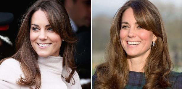 Kate Middleton se rende à tendência da temporada e adota a franjinha lateral no look - Getty Images
